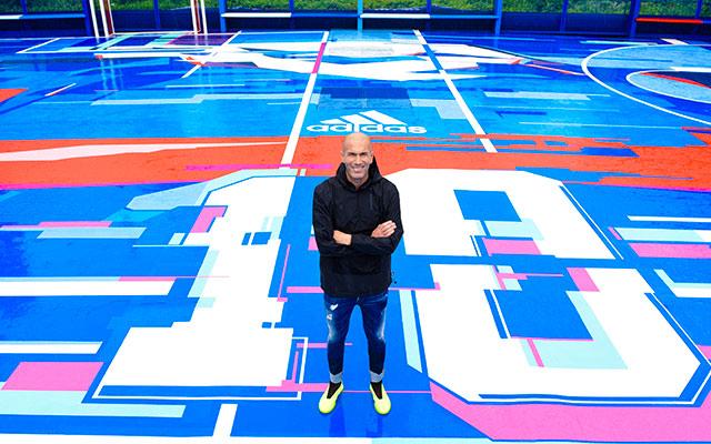 Inauguration Zidane sol playground à saint-denis réalisé par APS