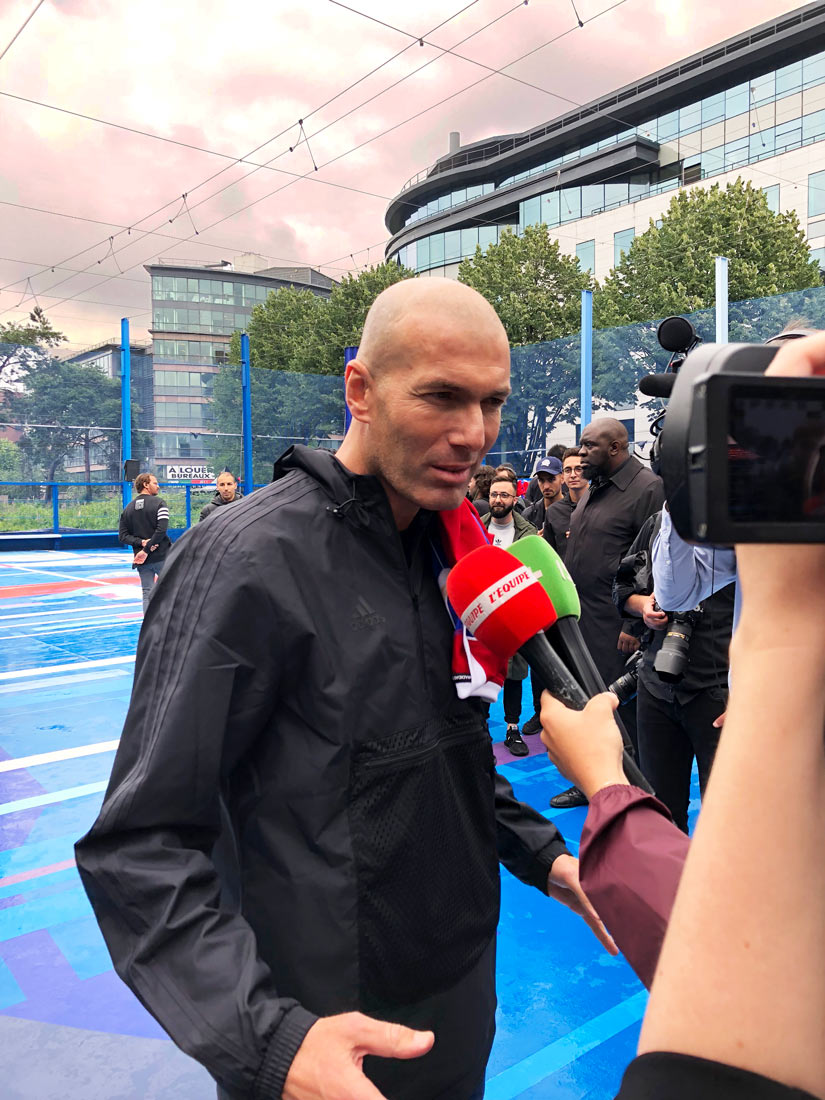 Interview de Zinedine Zidane sur le Playground de Saint-Denis